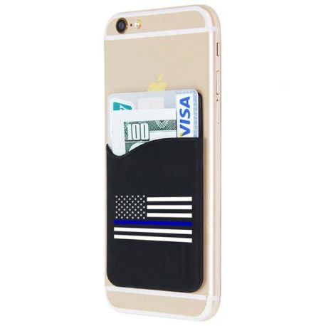 Blue line credit card holder