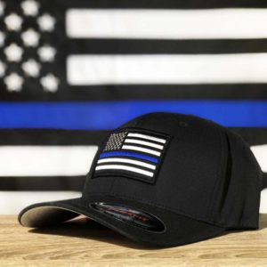 Thin blue line hat w bg