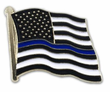 lapel blue line flag