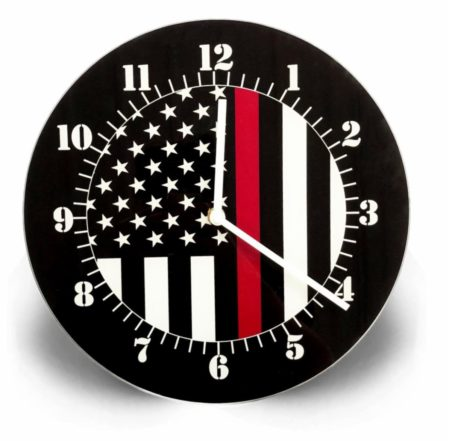 red line clock