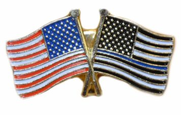 twin flags lapel