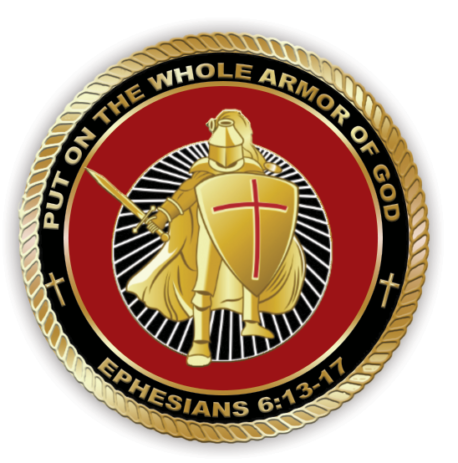 Armor of god coin front