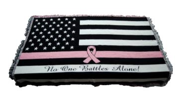 thin pink line throw