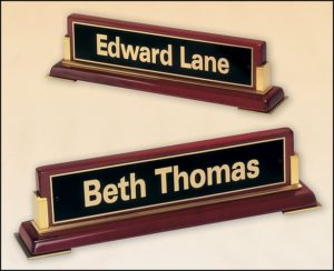 desk name plate edward