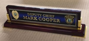 desk name plate mark