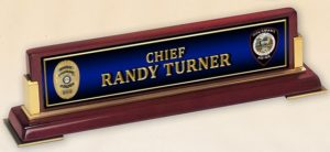 randy desk name plate