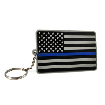 Thin blueline key chain