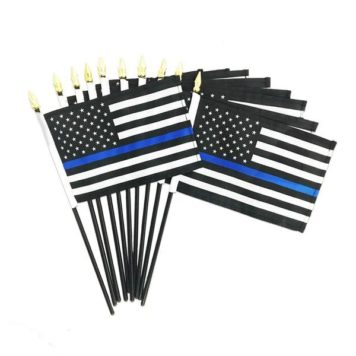 Thin blue line stickflag