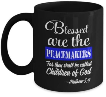 blessed peacemaker mug